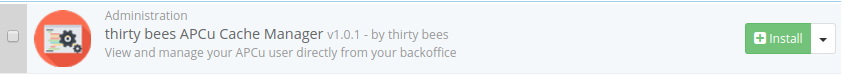 thirty bees apcu cache manager