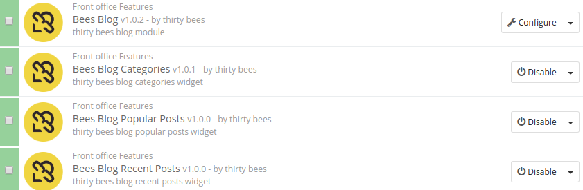 thirty bees blog other modules