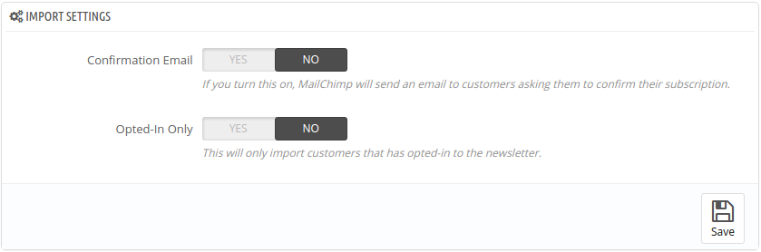 thirty bees MailChimp opt in