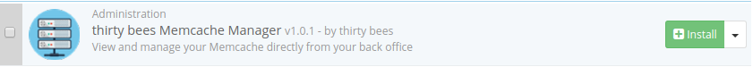 thirty bees memcache manager