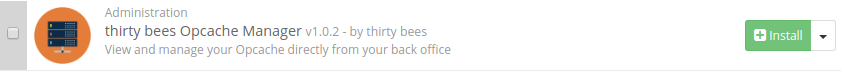 thirty bees opcache manager